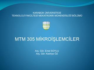 MTM 305 M?KRO??LEMC?LER