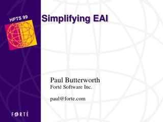Simplifying EAI