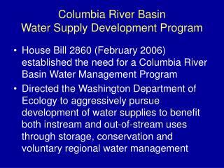 Columbia River Basin Water Supply Development Program