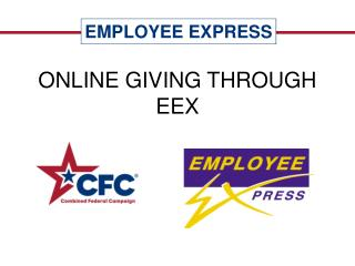 ONLINE GIVING THROUGH EEX