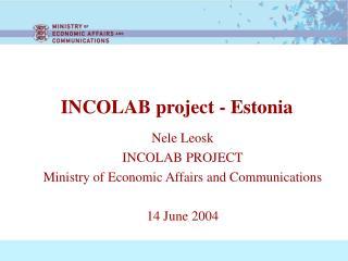 INCOLAB project - Estonia