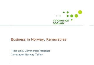 Business  in Norway. Renewables