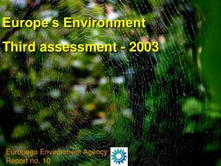 Europe's Environment  Third assessment - 2003