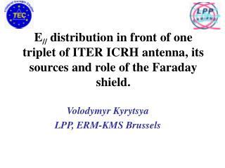 Volodymyr Kyrytsya LPP, ERM-KMS Brussels