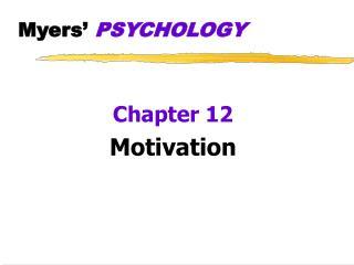 Myers  PSYCHOLOGY
