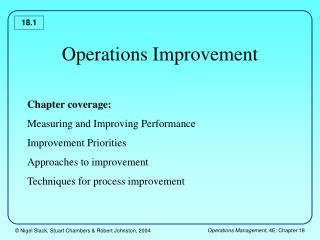 Operations Improvement