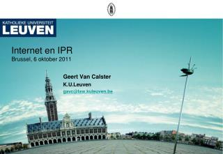 Internet en IPR Brussel, 6 oktober 2011