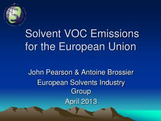 Solvent VOC Emissions for the European Union