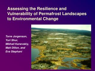 Assessing the Resilience and Vulnerability of Permafrost Landscapes to Environmental Change