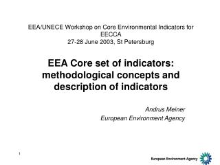 Andrus Meiner European Environment Agency