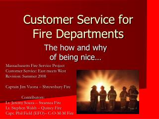 Customer Service for Fire Departments