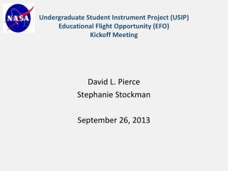 David L. Pierce Stephanie Stockman September 26, 2013