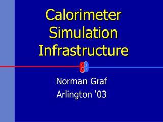 Calorimeter  Simulation Infrastructure