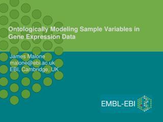 Ontologically Modeling Sample Variables in Gene Expression Data