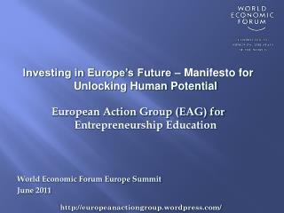 Investing in Europe's Future – Manifesto for Unlocking Human Potential