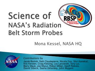 Science of   NASA's Radiation  Belt Storm Probes