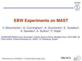 EBW Experiments on MAST