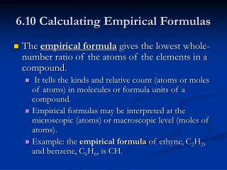 6.10 Calculating Empirical Formulas