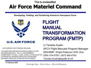 FLIGHT  MANUAL TRANSFORMATION PROGRAM (FMTP)