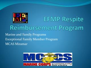 EFMP Respite Reimbursement Program