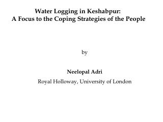 Water Logging in Keshabpur:  A Focus to the Coping Strategies of the People