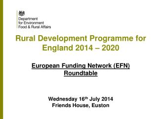 Rural Development  Programme (RDP)