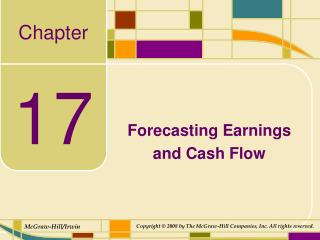 Forecasting Earnings  and Cash Flow