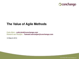 The Value of Agile Methods