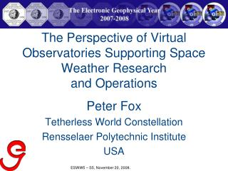 The Perspective of Virtual Observatories Supporting Space Weather Research and Operations