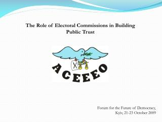The Role of Electoral Commissions in Building Public Trust