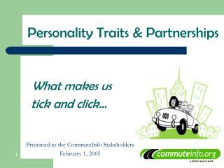 Personality Traits & Partnerships