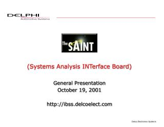 Systems Analysis INTerface Board
