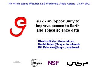 e GY - an  opportunity to improve access to Earth and space science data