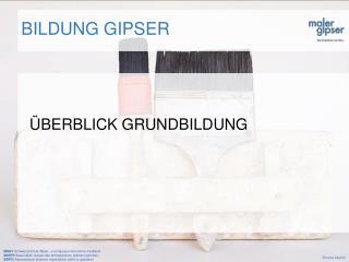 BILDUNG GIPSER