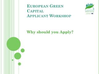 European Green Capital  Applicant Workshop