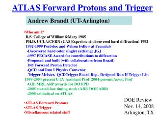 ATLAS Forward Protons and Trigger