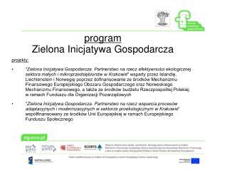 program Zielona Inicjatywa Gospodarcza
