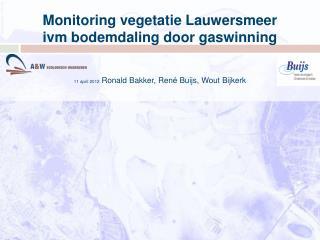 Monitoring vegetatie Lauwersmeer ivm bodemdaling door gaswinning