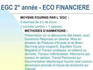 EGC 2° année - ECO FINANCIERE