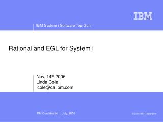 Rational and EGL for System i