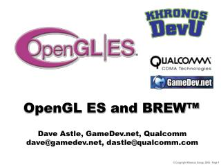 OpenGL ES and BREW™