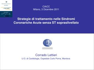 CIACC Milano, 3 Dicembre 2011