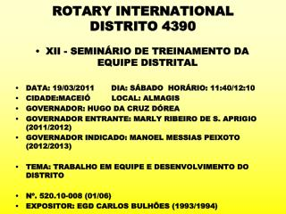 ROTARY INTERNATIONAL DISTRITO 4390