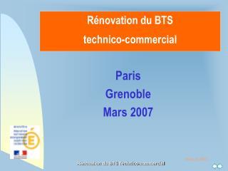 Rénovation du BTS technico-commercial