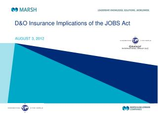 D&O Insurance Implications of the JOBS Act
