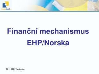 Finan?n� mechanismus EHP/Norska