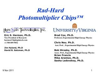 Rad-Hard Photomultiplier Chips™