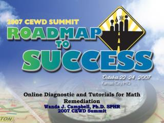 Online Diagnostic and Tutorials for Math Remediation
