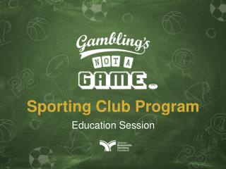 Sporting Club Program