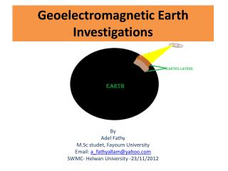 Geoelectromagnetic  Earth Investigations